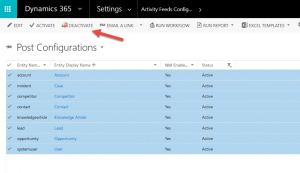 Quick Tip - Turn Activity Feed Posts Off in Dynamics Joe Gill Dynamics 365 Consultant