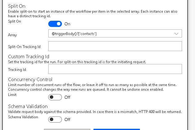 Microsft Flow - Http Request - Split On