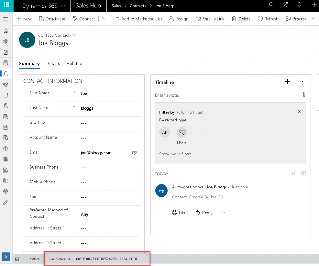 Track Issues in Logic Apps/Flow using Correlation Id Joe Gill Dynamics 365 Consultant