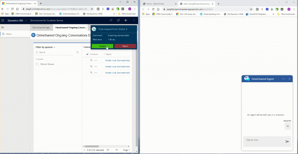 Hand off a Virtual Agent Bot  to a Omnichannel Chat Joe Gill Dynamics 365 Consultant