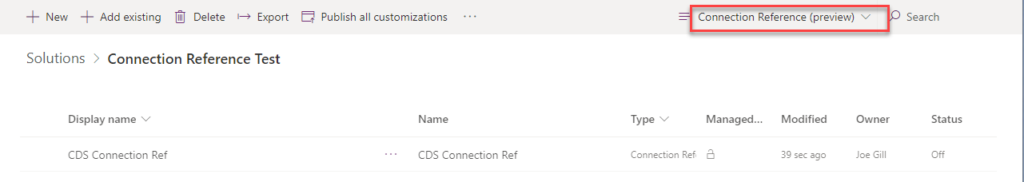 Connection References - First Look Joe Gill Dynamics 365 Consultant